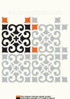 Tile Stencil 100mm Moroccan Paint Furniture Wall Floor Reusable Art Crafts TL39