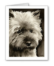 Cairn Terrier note cards by watercolor artist Dj Rogers