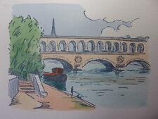 26/ AQUARELLE PARIS / Le viaduc d'Auteuil ( du point du jour )