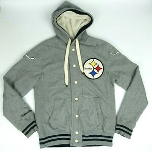 Pittsburgh Steelers Mitchell & Ness Nosalgia Throwback Hoodie Sweatshirt Small S