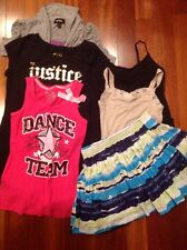 Justice Girls 6 pc lot Size 12 Tops Tanks Cami Tee Skirt Clothes and Moxsimo