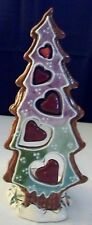 """Nwob 2002 Blue Sky Clayworks """"Tree with Hearts"""" t-lite Holder & Partylite candle"""