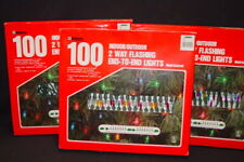 Vintage Venture Indoor Outdoor Flashing Christmas Lights 100 Each Lot 3 Boxes