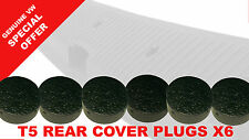 6 x NEW Genuine Volkswagen T5 T6 Transporter Rear Step Cover Blanking Plug Caps