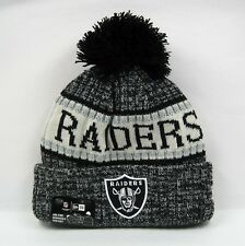 New Era Men s NFL Oakland Raiders Team Uniform Colors Winter Knit Bobble Hat e7c30ac0a7e1