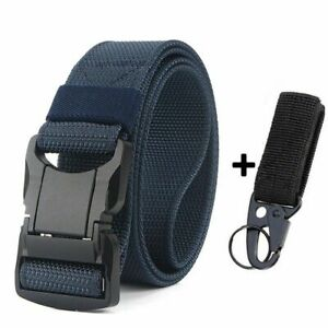 Mens Casual Belts Aluminum Pluggable Safety Adjustable Buckle Outdoor Accessory