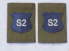DISTINTIVO DI GRADO : Royal Militare Academy Sandhurst, rmas , blu su OLIVA, (S2