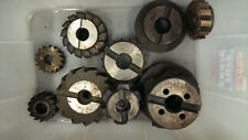 9 Off Milling Tools Cutters side & face Engineering