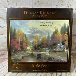 NEW Thomas Kinkade THE VALLEY OF PEACE 500 Oversized Piece Puzzle Ceaco 27x20