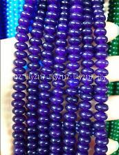 "Natural 5x8mm Purple Amethyst Abacus Rondelle Gemstone Loose Beads 15"" AAA"