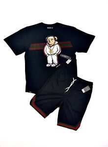 NEW Men's 2-Piece [Gang Bear] Active/Casual T Shirt & Track Shorts Set (8 LEFT)