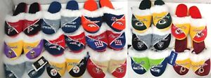 NFL Women's Cursive Colorblock Fur Slippers House Shoes