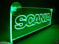 12v LED VERDE INTERIOR CABINA luz Placa para Scania Camión Neón Mesa Señal Luz