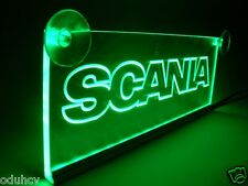 12V Green LED Interior Cabin Light Plate for SCANIA Truck Neon Table Sign Lamp