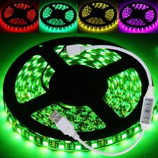 Lichterkette 0,5 bis 3 Meter RGB LED 5050 Licht Streifen Strip Band 10mm Breit