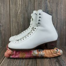 Riedell Womens Ice Skates Model 133 Size 7.5 White W/ Covers