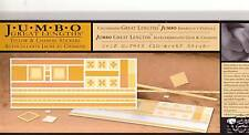 CREATIVE MEMORIES YELLOW CHAMOIS Jumbo Great Lengths Stickers Scrapbooking x 2