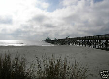 """ACEO """"Folly Beach Pier in Winter"""" ~ Charleston, SC ~ Signed Photographer's Print"""