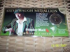 STEVE WAUGH MEDALLION - A BRILLIANT CAREER - FREE POST