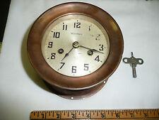 RARE VTG E. Waterbury Copper  Port Hole Clock Perfect Working Condition