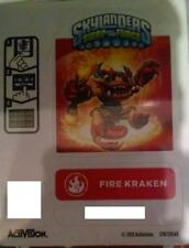 Fire Kraken Skylanders Swap Force Sticker/Code Only!