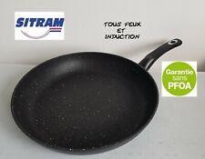 SITRAM poele 32 cm en pierre tous feux et induction casserole marmite WOK