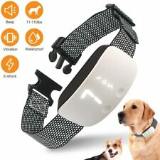 LED Rechargeable Anti Bark Collar with Smart Automatic Sensor for S/M/L Dogs