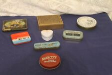 More details for 7 vintage collectable advertising tins plus one lid only
