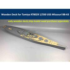 Wooden Deck for Tamiya 78029 1/350 Scale USS Missouri BB-63 Circa 1991 Model