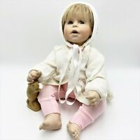 Artisan Bisque Porcelain 50cm Baby Doll, Soft Weighted Body, 1987 Delletre Orig