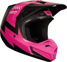 Fox V2 Motocross MX OffRoad Helmet Mastar Black Pink Adult XLarge 61-62cm