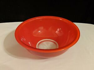 Vintage Pyrex Red Glass Clear Bottom Nesting Mixing Bowl #325 2.5L