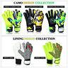 New Football Goalkeeper Goalie Flat Roll Finger Saver Protection Soccer Gloves