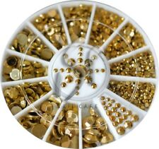 Diamant Facet Gold Nail Art Strasssteine im Rondell 1,5mm;2mm;3mm;4mm;5mm