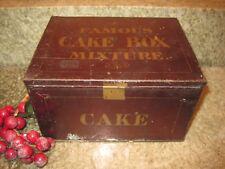 ANTIQUE FAMOUS CAKE BOX MIXTURE TIN LITHO TOBACCO CAN LEAVITT & PEIRCE 6.5 x 5