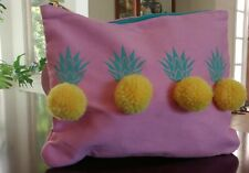 Clutch Beauty Cosmetic Pouch Bag Target Pink Pineapple Pom Pom