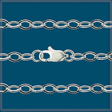 """LOT 2 Sterling SILVER 925 MEDIUM CABLE CHAINS 18"""""""