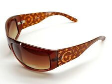 Guess Women's Brown Logo Wrap Sunglasses Brown Lens New!