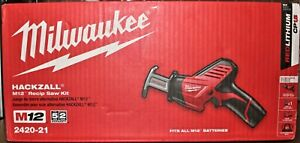 Milwaukee 2420-21 12V Hackzall Reciprocating Saw Kit w/ Battery & Charger