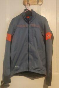 Castelli transition Cycling Jacket XL, light steel blue, orange