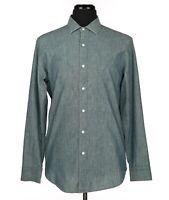 J. Crew Ludlow Chambray Long Sleeve Dress Shirt Blue Men's Size Medium