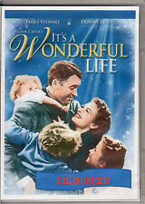 IT'S A WONDERFUL LIFE (COLOURISED) -- JAMES STEWART & DONNA REED ALL REGION DVD*
