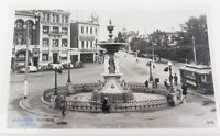 .c1930s / 1940s VALANTINE'S REAL PHOTO POSTCARD, ALEXANDRA FOUNTAIN, BENDIGO
