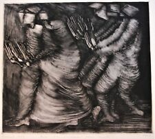 CSECH Hélène Rare Monotype Estampe originale 1/1 1993 signé dédicacée etching