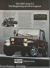 1987 JEEP YJ advertisement, American Motors Renault, Canadian advert