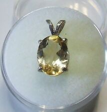 Natural earth-mined citrine in a solid sterling silver pendant