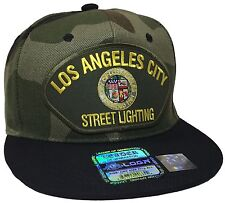 City Of Los Angeles Street Lighting Hat Color Camo Black Snapback