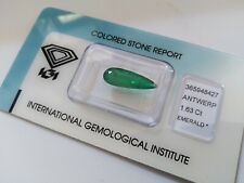 SPLENDIDO SMERALDO! Ct. 1.63. Certificato IGI. GOOD COLOR QUALITY!!!
