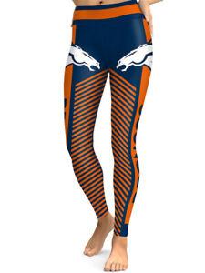 Denver Broncos Leggings Small-XXL (0-14) Football Fan Gift Game Broncs Stripes