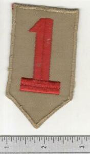 Off Uniform WW 2 US Army 1st Infantry Division Patch Inv# B005